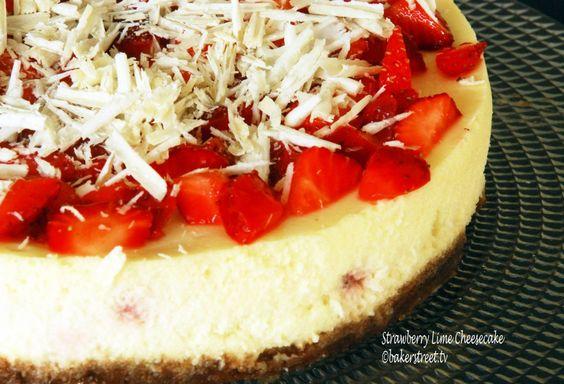 Strawberrry Lime Cheesecake