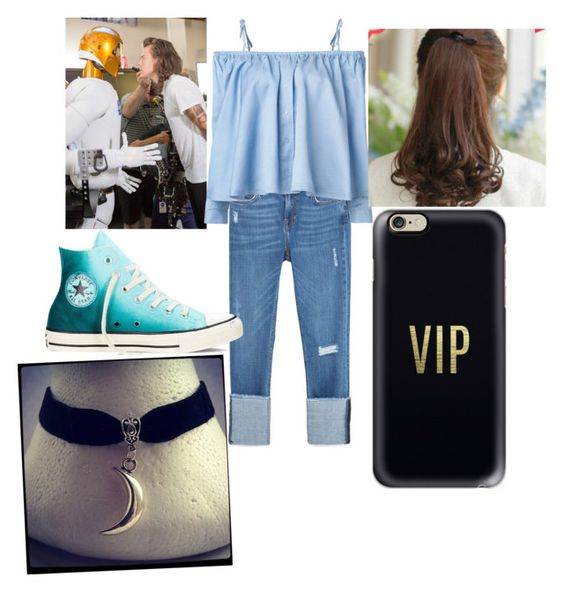 """""""Hanging out with Harry Styles 2"""" by faith-vines ❤ liked on Polyvore featuring Zara, Sandy Liang, Converse, Pin Show and Casetify"""