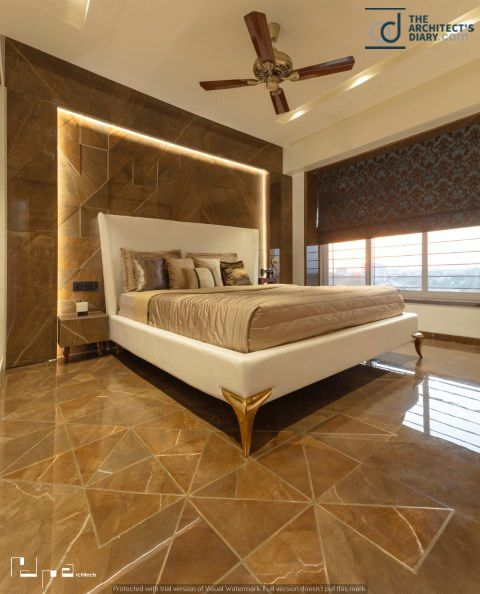 Dark Symposium Residence At Nashik Bedroom Bed Design Modern