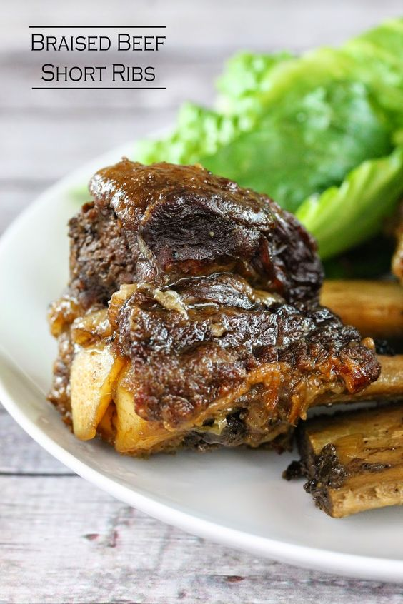 Beef short ribs, Braised beef and Short ribs on Pinterest