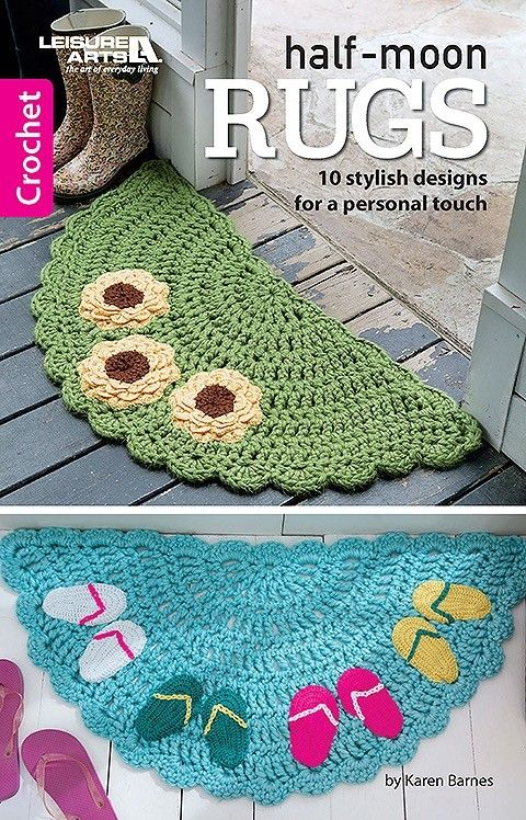 Half Moon Rugs 10 Stylish Crochet Designs For A Personal Touch In 2020 Easy Crochet Rug Crochet Rug Patterns Crochet Rug