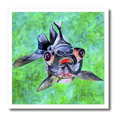 ht_18241_3 Taiche Acrylic Art - Fish BlackMoor Goldfish - Iron on Heat Transfers - 10x10 Iron on Heat Transfer for White Material 3dRose http://www.amazon.com/dp/B0050N1AV0/ref=cm_sw_r_pi_dp_mkinvb0MAA9XH