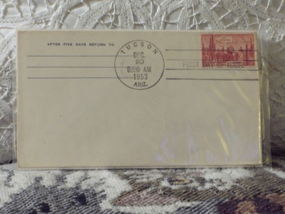 http://ajunkeeshoppe.blogspot.com/  First Day Issue/Cover-Stamp-1853 Gadsden Purchase.-Arizona 1953 3c 8ozP724B4HP1157