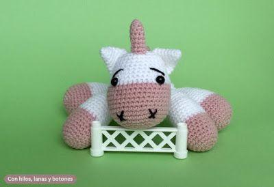 Unicornio amigurumi rosa