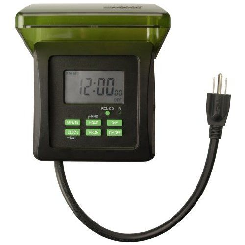 Woods 50015wd Outdoor 7 Day Heavy Duty Digital Plug In Timer 2 Grounded Outlets Outlet Timers Lights Timer Digital Timer