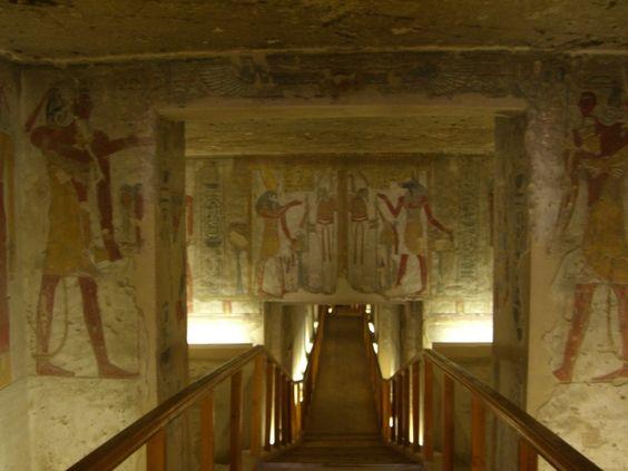 Corredor da Tumba de Tausert e Setnakht.  Vale dos Reis. # Luxor, Egito.