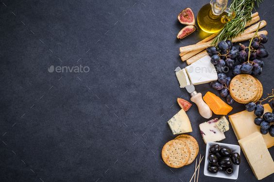cheese selection border background - Stock Photo - Images