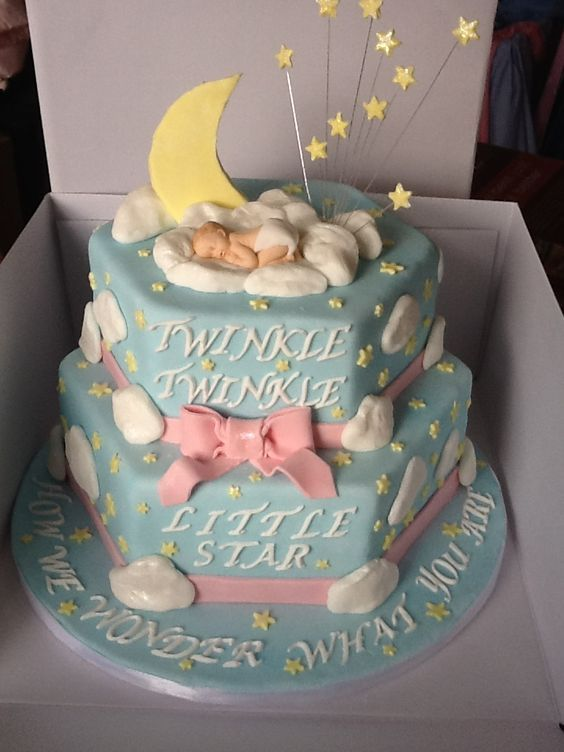 Cake I made for my sister in laws baby shower - twinkle twinkle little star how