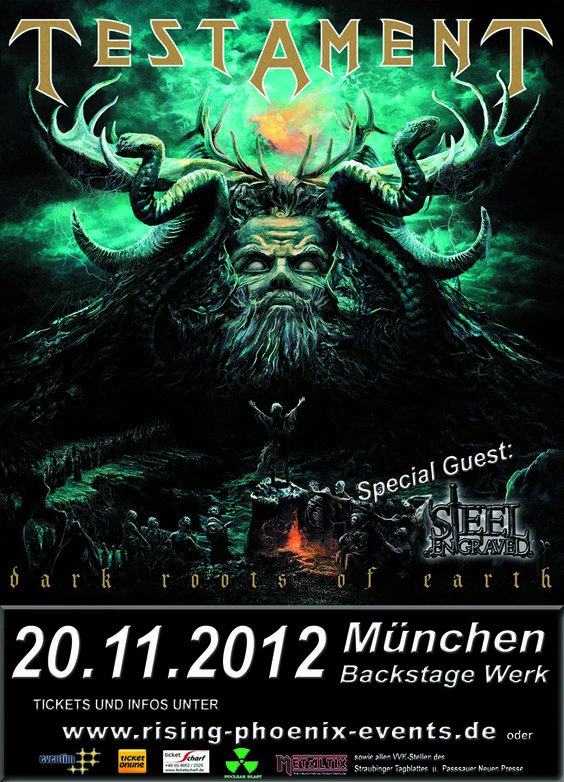 Testament ~ Dark Roots of Earth tour 2012