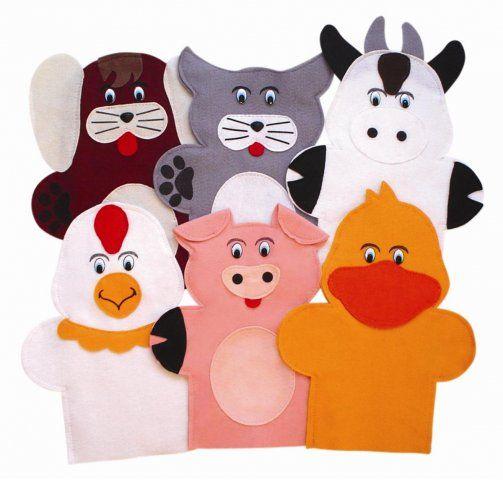 Moldes de titeres de dedo en fieltro buscar con google - Como hacer marionetas de mano ...