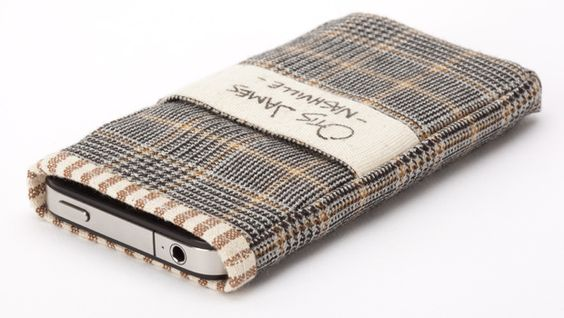 These iPhone Cases Are Handmade With Glen Plaid Wool