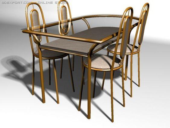 3D Model Table c4d, obj, 3ds, fbx, ma, lwo 14870