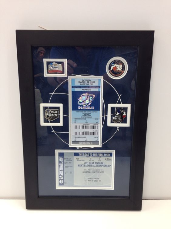 NBA finals ticket display!