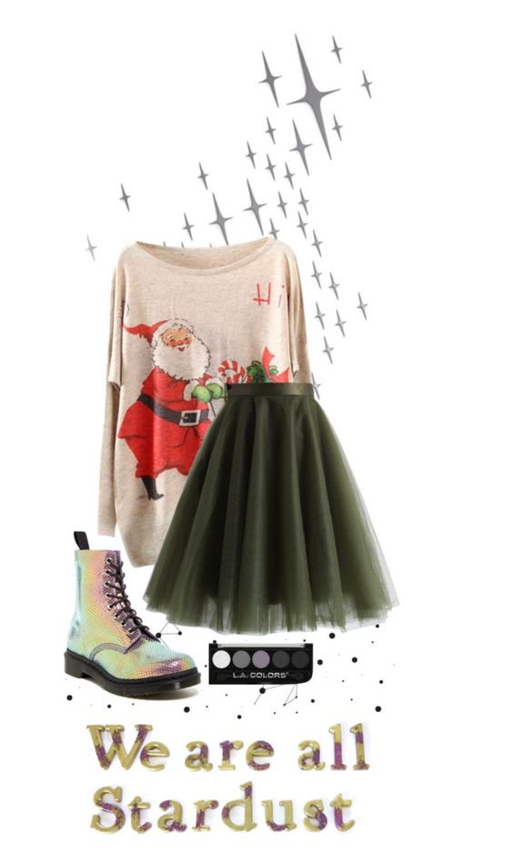 """""""Cute Christmas"""" by ora3ngecat on Polyvore featuring DOMESTIC, Chicwish and Dr. Martens"""