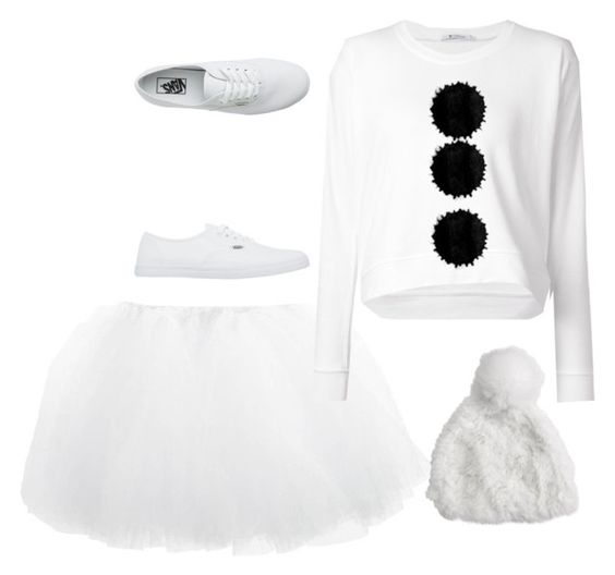 """""""HALLOWEEN DANCE: Olaf"""" by purplecheesesticks ❤ liked on Polyvore featuring T By Alexander Wang, Vans and Adrienne Landau"""