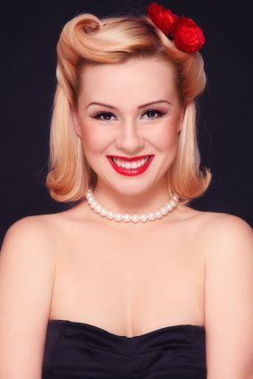 Love the hairstyle! 1940's hair styles are so pretty =)