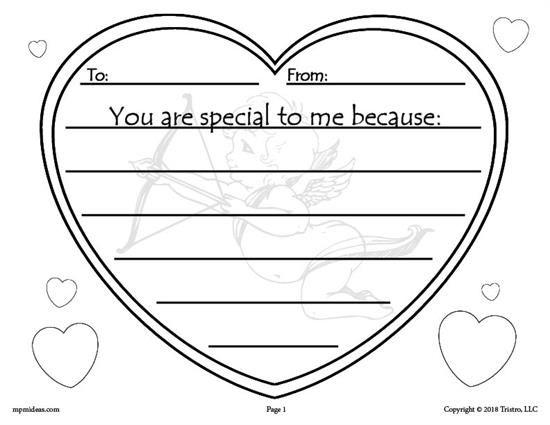 Printable Valentine's Day Writing Activity! Preschool Valentines,  Valentines Writing Activities, Valentines Writing Kindergarten