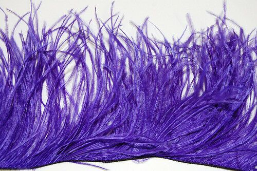 OSTRICH FEATHER FRINGE 18 Colors to Choose Many Lengths; Trim//Halloween//Costume