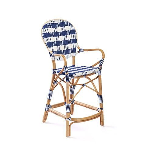 Madeleine Counter Stool In Navy With Images Counter Stools French Bistro Stools Paris Bistro Chairs