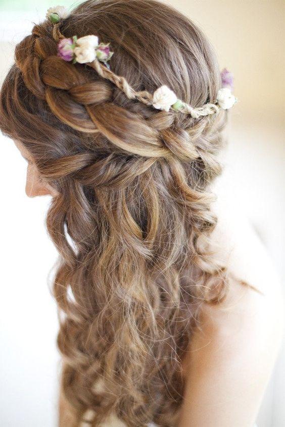 Fantastic Wedding Hair With Veil Homecoming And Homecoming Hairstyles Down Hairstyle Inspiration Daily Dogsangcom