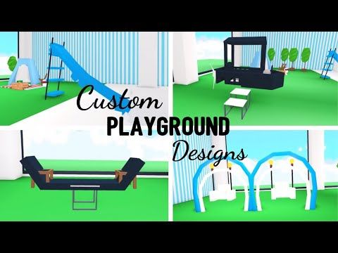 4 Custom Playground Design Ideas Building Hacks Roblox Adopt Me Its Sugarcoffee Youtube Playground Design Custom Pet Furniture Roblox
