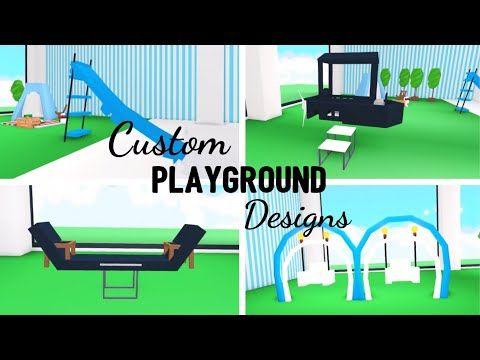 4 Custom Playground Design Ideas Building Hacks Roblox Adopt Me Its Sugarcoffee Youtube Playground Design Adoption Playground
