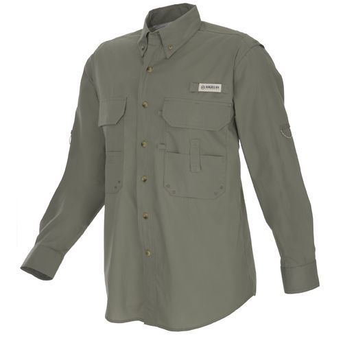 Magellan outdoors men 39 s lake fork poplin fishing shirt for Magellan women s fishing shirts