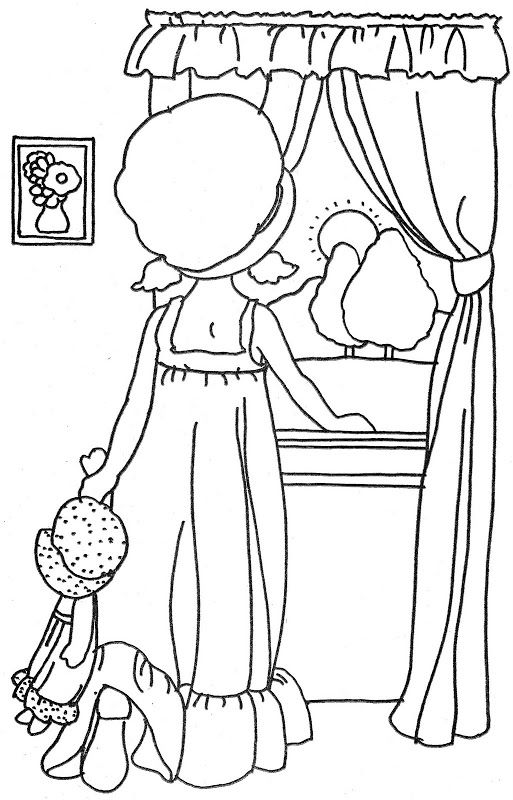 Coloring Pages Quiet : Holly hobbie s quiet time art illustrations