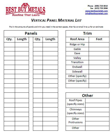 Roofing Quote Template 6 Free Word Excel And Pdf Format