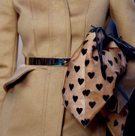 Soft, stylish sack bag with heart