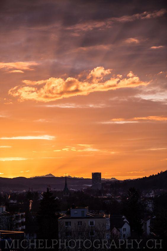 Sonnenaufgang Winterthur