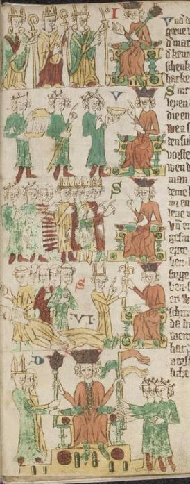 Eike <von Repgow>   Heidelberger Sachsenspiegel — Ostmitteldeutschland, Anfang 14. Jh. Cod. Pal. germ. 164 Folio 21r
