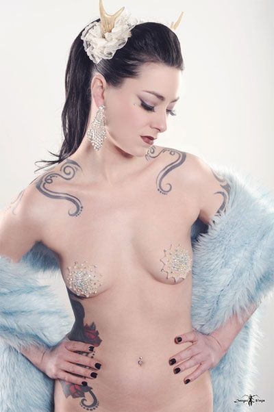 Couture Galaxy Pasties Couture Customizable Rhinestone Crystals Pearls Starburst Burlesque Nipple Tassel Pasties [] - $37.00 : Gothfox Desig...