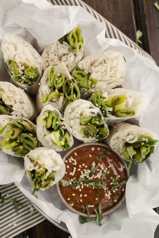 I will definitely be making these with my garden crop of sugar snap peas and scallions! And probably add some sauteed shrimp just for fun! Yum!