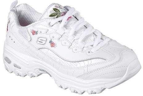 Women S Skechers D Lites Bright Blossoms Sneaker