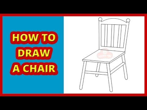 How To Draw A Chair Step By Step Drawing For Kids And Toddlers Simple Drawing Youtube Drawing For Kids Step By Step Drawing How To Make Drawing
