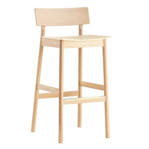 Woud S Pause Bar Stool 65 Cm White Pigmented Oak Bar Stools Counter Chairs Bar Stool Chairs