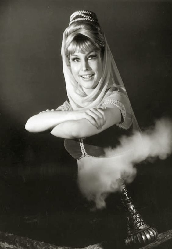 Barbara eden, I dream of jeannie and Black white on Pinterest