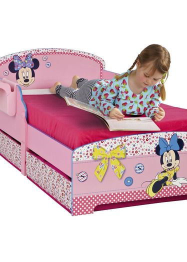 minnie mouse toddler bed with storage