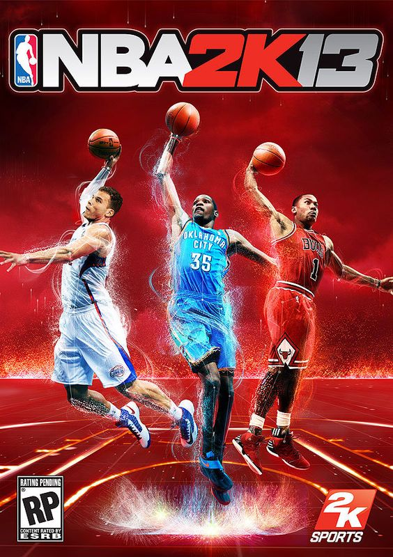 NBA 2K13: Kevin Durant, Derrick Rose and Blake Griffin Grace Cover