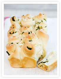 Spinach and feta pull-apart