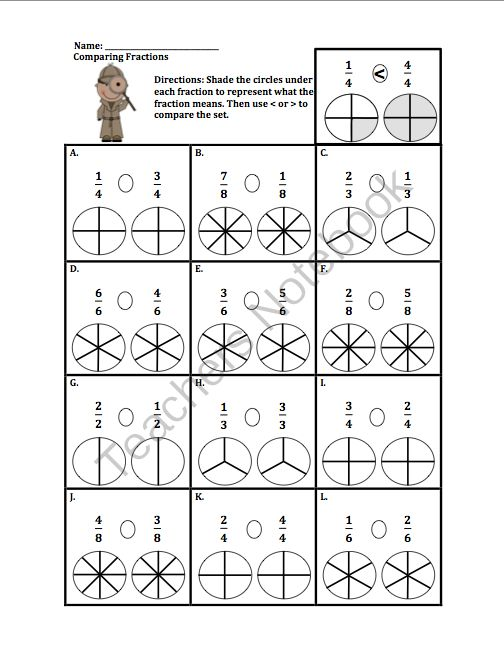 math worksheet : comparing fractions with the same denominator! enter for your  : Comparing Fractions With Like Denominators Worksheet