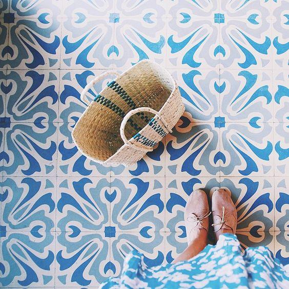 Beautiful floor tiles.