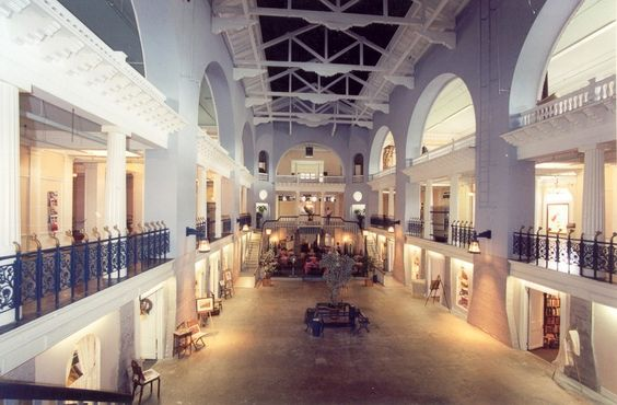 St Augustine, Fl. At the time it was built the Alcazar had the biggest indoor pool ever, now a cafe and shops live in the drained pool.This is what it looked like when I was there.