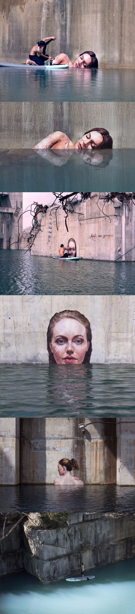 "If you've seen these great ""street"" art pieces and were wondering how the artist did them, here you go :):"