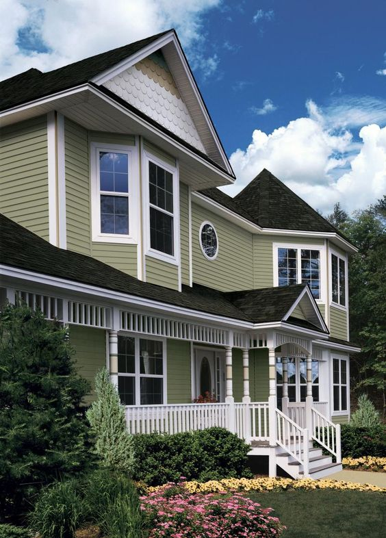 Vinyl siding cypress color building supply house vinyl siding siding pinterest home - High build exterior paint set ...