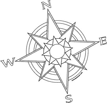 compass coloring pages - free printable adult coloring pages compass pirates