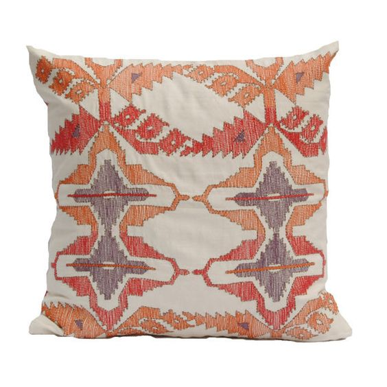 Orange Cushions Decorative PillowsKilim Pillow by DesignandLiving