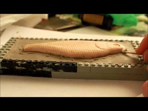 how to make a 2 piece mold for fishing lures - YouTube