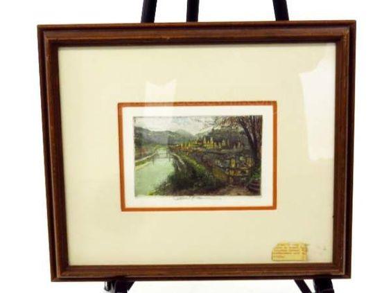 shopgoodwill.com: Original Hand Tinted Etching by Robert Kasimir